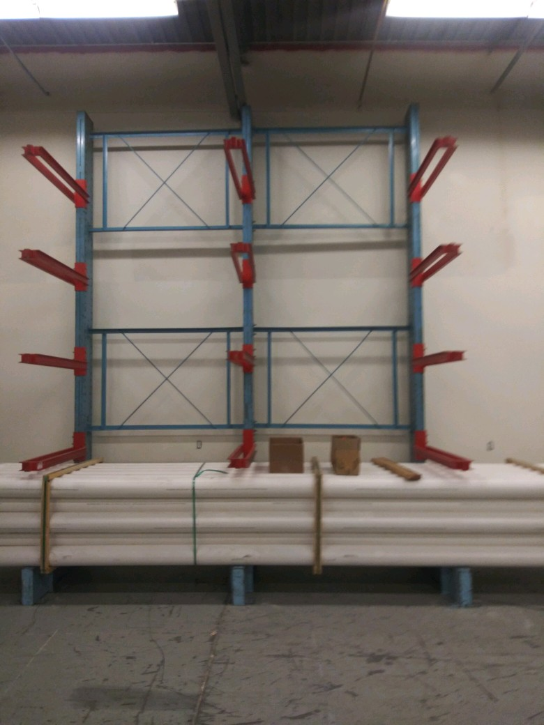 Shelving and Cantelier Rack for an Industrial and Mobile Fluid Power Distribution Companies